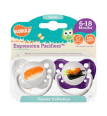 Ulubulu Sushi & Sashimi Pacifiers 6-18M (Girl)