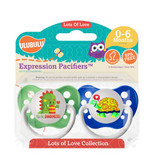 Ulubulu Dragon & Turtle Pacifiers 0-6M (Boy)