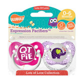 Ulubulu QT Pie & Elephant Pacifiers 0-6M (Girl)