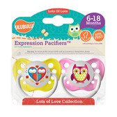 Ulubulu Hearts & Owls Pacifiers 6-18M (Girl)