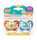 Ulubulu Green & Blue Monster Pacifiers 6-18M (Boy)