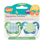 Ulubulu Blue Argyle & Green Chevron Pattern Pacifiers 6-18M (Boy)