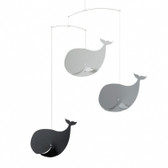 Flensted Mobiles Happy Whales Black/Grey