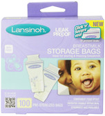 Lansinoh Breastmlk Storage Bags 100 Count