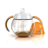 Lansinoh mOmma Spill Proof Cup With Dual Handle 9 oz, Orange