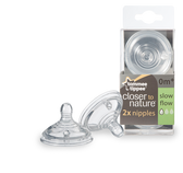 Tommee Tippee Slow Flow Nipples 2-Pack