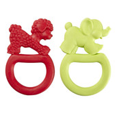 Vulli Sophie the Giraffe Vanilla Teething Rings, 2 pk, Red/Green