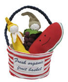 Under the Nile Organic Cotton Teething Toy, Fruit Tote