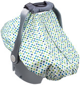 Summer Infant 2-in-1 Carry and Cover Infant Car Seat Cover, Dots
