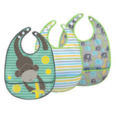 JJ Cole Bib Set, 3 pk, Gray Safari