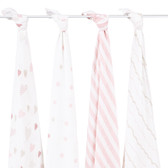 Aden + Anais Heartbreaker Classic Swaddles 4-Pack