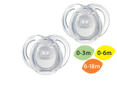 Tommee Tippee 0-6 M Everyday Pacifier 2-Pack (More Colors)