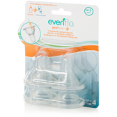 Evenflo Proflow Plus Vented Silicone Nipples, 4-pk