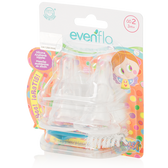 Evenflo Feeding Distroller Slicone Anatomic Nipple with Brush 4-Pack
