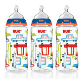 NUK Core Orthodontic Bottles, 10 oz, 3pk (More Colors)