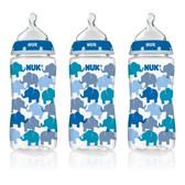 NUK Fashion Orthodontic Bottles, 3 pk, 10 oz (More Colors)