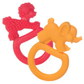 Vulli Sophie the Giraffe Vanilla Teething Rings, 2 pk, Red/Orange