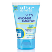 Alba Botanica Kids Mineral Sunscreen, Fragrance Free, SPF 30, 4 fl. oz.