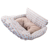 Summer Infant 2-in-1 Cushy Cart Cover and Seat Positioner, Dots And Diamonds