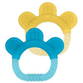 Green Sprouts Sili Paw Teether, Yellow/Blue, 2 pk