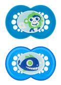 MAM Cartoon Orthodontic Silicone Pacifiers 6+ m, 2 pk Boy