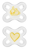 MAM Start Orthodontic Silicone Pacifiers 0+ m, 2 pk Neutral