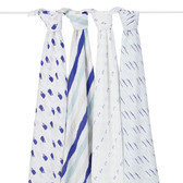 Aden + Anais Classic Swaddles 4-Pack, High Seas