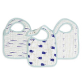 Aden + Anais Classic Snap Bibs 3-Pack, High Seas