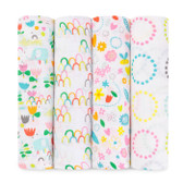 Aden + Anais Zutano Classic Swaddles 4-Pack, Fairground