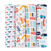 Aden + Anais Zutano Classic Swaddles 4-Pack, Pup in Tow