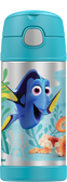 Thermos 12 oz Funtainer Insulated Stainless Steel Straw Bottle, Finding Dory