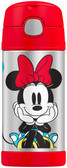 Thermos 12 oz Funtainer Insulated Stainless Steel Straw Bottle, Minnie Mouse
