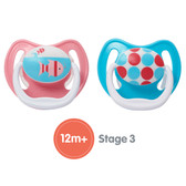 Dr Brown's PreVent Silicone Pacifiers 12+ m, 2 pk, Girl