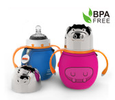 Haakaa Wide Neck Thermal Stainless Steel Baby Bottle 6 oz 1 pk (More Colors)