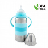 Haakaa Standard Neck Thermal Stainless Steel Baby Bottle 9 oz 1 pk (More Colors)