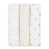 Aden + Anais Classic Swaddles 3-Pack, Metallic Gold