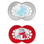 MAM Winter Holiday Silicone Pacifiers 6+ m, 2 pk
