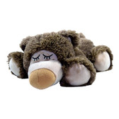 Intelex Warmies Cozy Plush Microwavable Warmer, Brown Sleepy Bear