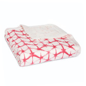 Aden + Anais Silky Soft Bamboo Dream Blanket 1 pk, Berry Shibori