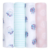 Aden + Anais Classic Swaddles 4-Pack, Thistle