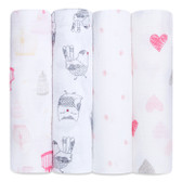 Aden + Anais Classic Swaddles 4-Pack,  Lovebird