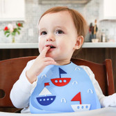 Make My Day Soft Silicone Baby Bib 1 pk,  ahoy matey