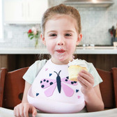 Make My Day Soft Silicone Baby Bib 1 pk, hearts in a flutter