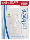 Dr Brown's SN Silicone Nipples, 2 pk
