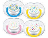 AVENT Silicone Contemporary Freeflow Pacifiers, 6-18 m, 2 pk, BPA Free