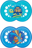 MAM Crystal Orthodontic Silicone Pacifiers 6+ m, 2 pk, Turtle