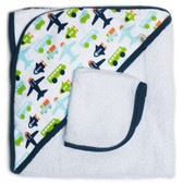 JJ Cole Hooded Towel Set, White Vroom
