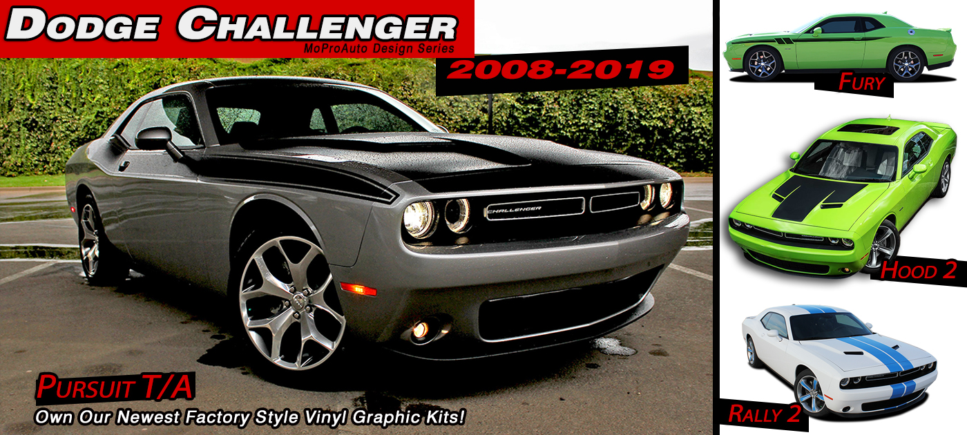 Dodge Challenger Stripes Decals Vinyl Graphics