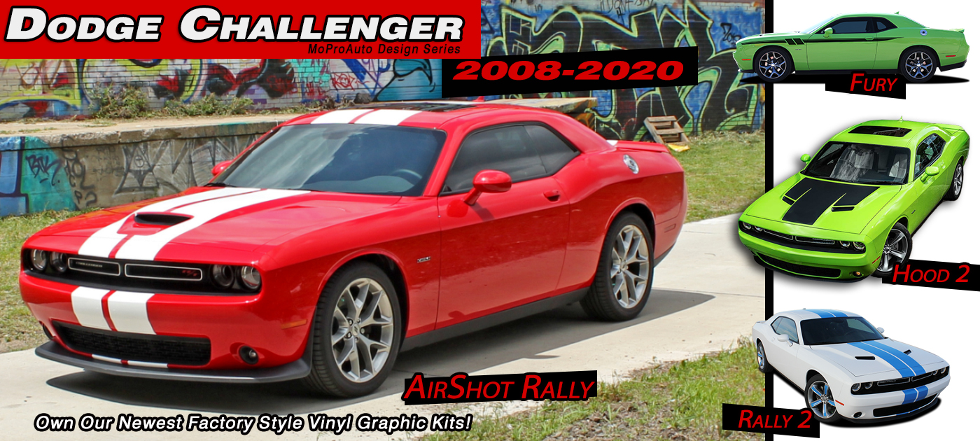 Dodge Challenger Stripes, Dodge Challenger Decals, Dodge Challenger Vinyl Graphics Kits