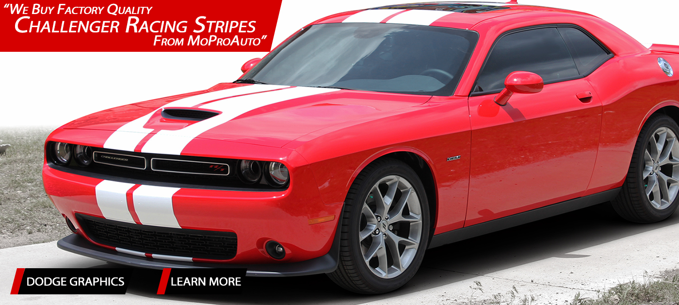 Dodge Challenger Stripes, Dodge Challenger Decals, Dodge Challenger Vinyl Graphics Kits